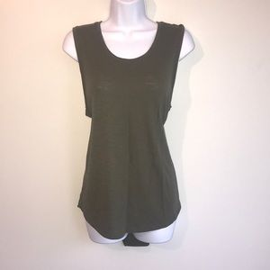 Xersion Relaxed Fit Athletic Tank L Green